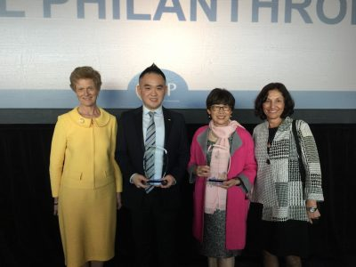 Barbara with her professional colleagues who received awards for their volunteerism, reminding Barbara of the important of doing 'good' through mentoring and supporting other volunteers, activists, and philanthropists.