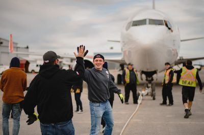Ben gearing up for the United Way Plane Pull.