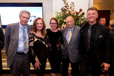 Robert mingles with the current and past Chairs of the of the Board of Trustees of the Manitoba Opera at a recent fundraiser for the opera (photo courtesy Manitoba Opera).