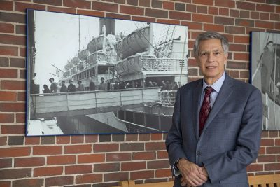 Robert at Pier 21 in Halifax, NS (photo courtesy of the Canadian Museum of Immigration).