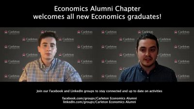 Thumbnail for: Economics Chapter welcomes the Economics Class of 2021!